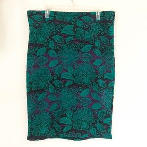 Lularoe Cassie Stretch Pencil Skirt SZ 2XL Green